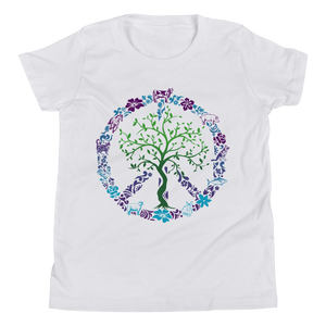 Vegan Kids T-shirt - Vegan Gift Idea - Peace Tree