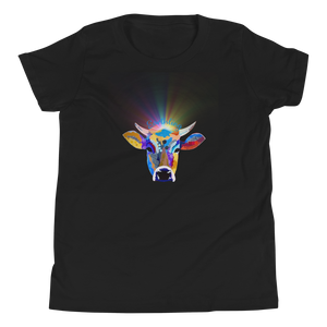 Vegan Kids T-shirt - Vegan Gift Idea - Earthling Crown - Cow