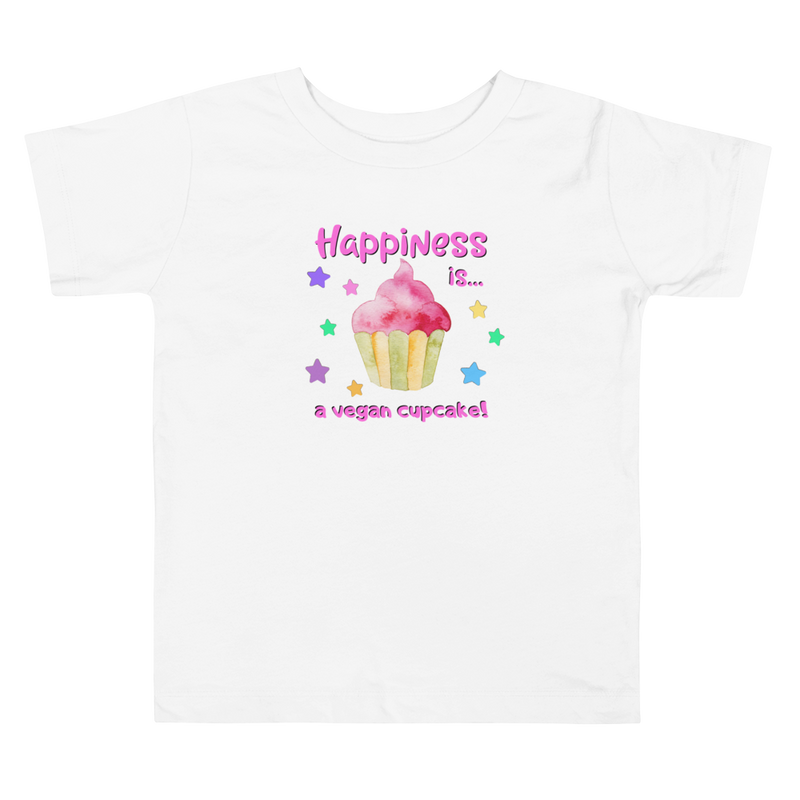 Vegan Toddler T-shirt - Cupcake - Baby Shower Gift Idea
