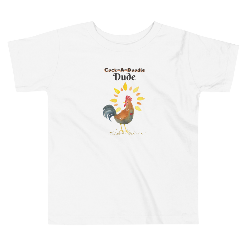 Vegan Toddler T-shirt - Rooster - Baby Shower Gift Idea