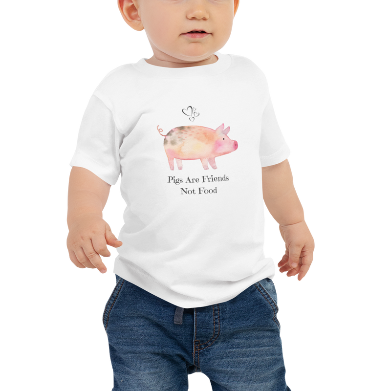 Vegan Baby T-shirt - Pigs are Friends - Gift idea
