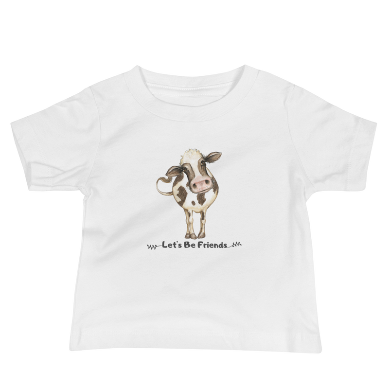 Vegan Baby T-shirt -Cow Friends - Gift idea