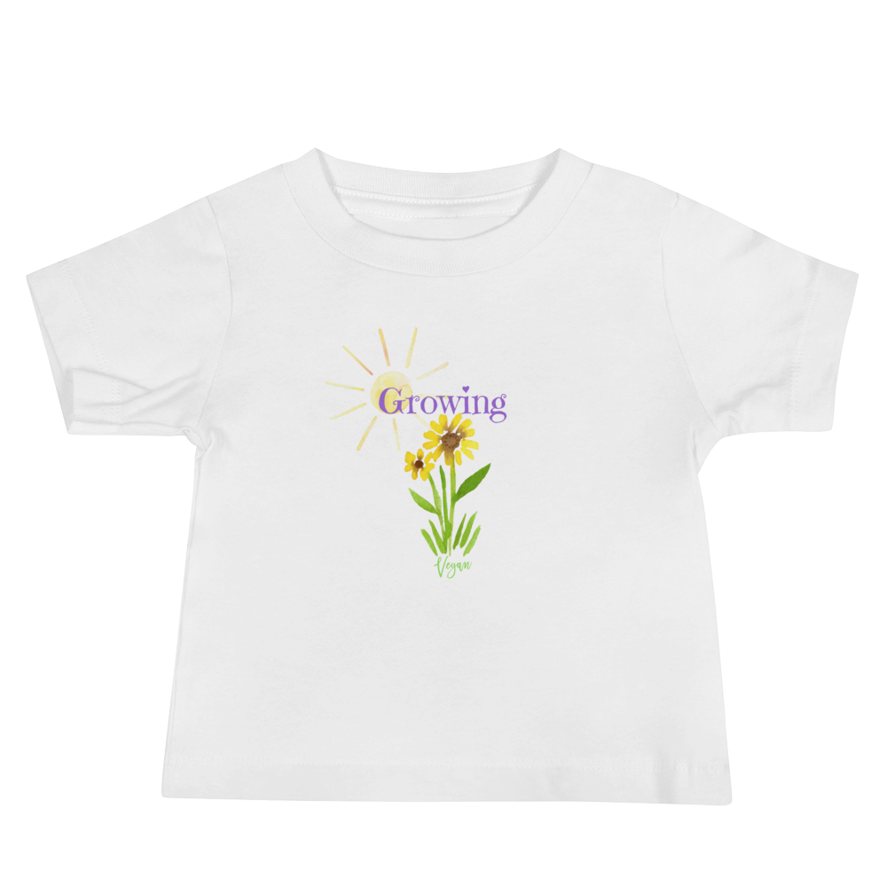 Flower Vegan T-shirt - Vegan Baby Shower Gift Idea