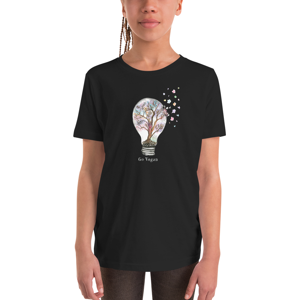 Vegan Kids T-shirt - Vegan Gift Idea - Lightbulb Compassion