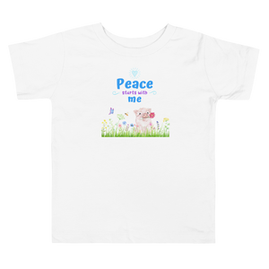 Vegan Toddler T-shirt - Pig Peace - Baby Shower Gift Idea