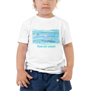 Vegan Toddler T-shirt - Save Our Oceans - Baby Gift Idea