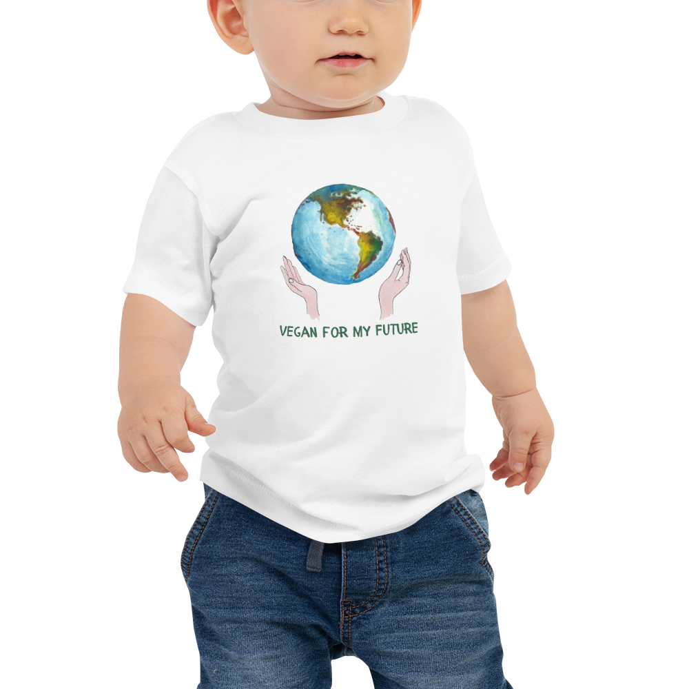 Vegan Baby T-shirt - Vegan Earth - Baby Shower Gift idea