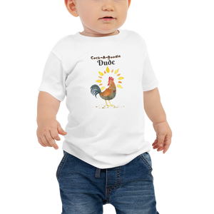 Rooster Chicken Vegan T-shirt - Vegan Baby Shower Gift Idea