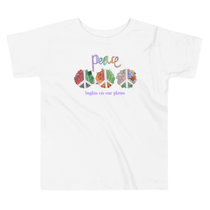 Vegan Toddler T-shirt - peace - Baby Shower Gift Idea
