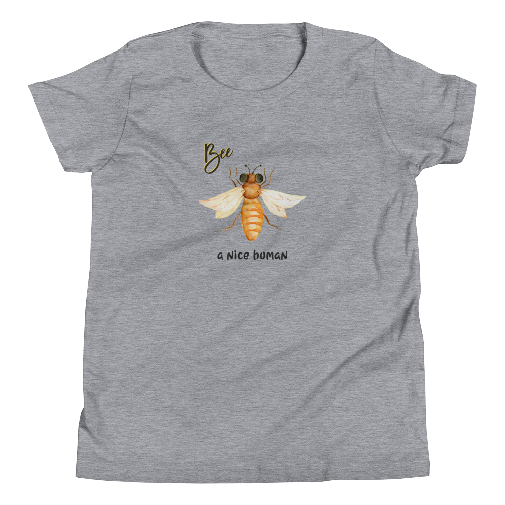 Vegan Kids T-shirt - Vegan Gift Idea - Bee Nice Human