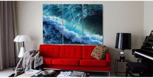 Wild Blue Ocean - inspiring framed canvas wall art - rainbowgrove dreams