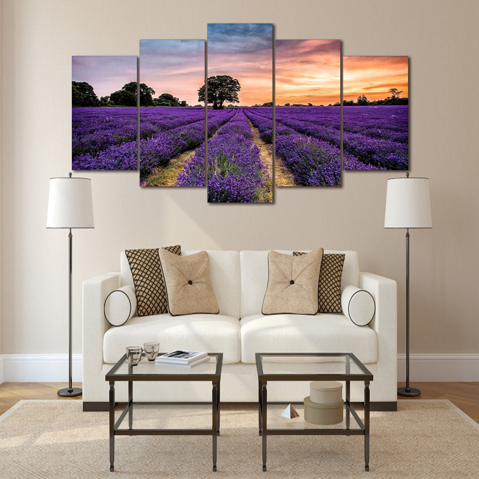Lavender Field - Inspired by Nature - Canvas Wall Art