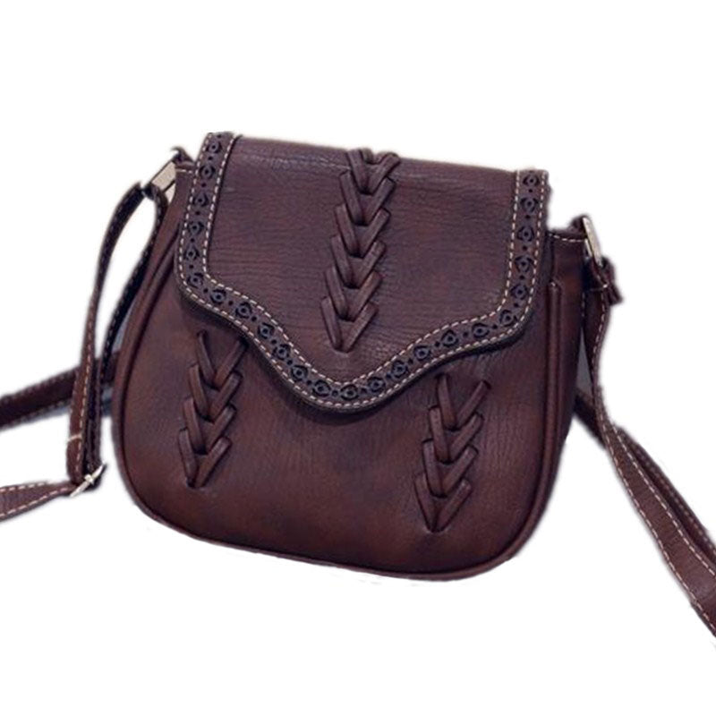 Vintage Crossbody Saddle Bag - Vegan Hand Bag