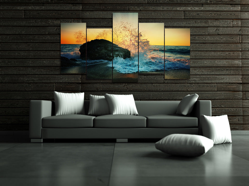 Crashing Wave - Inspired by Nature - Canvas Wall art