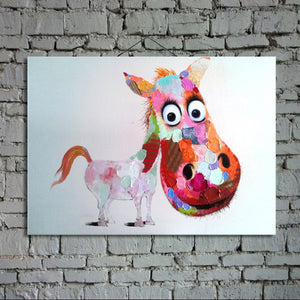 Colorful Spotted Pony - Vegan Wall Art - Canvas