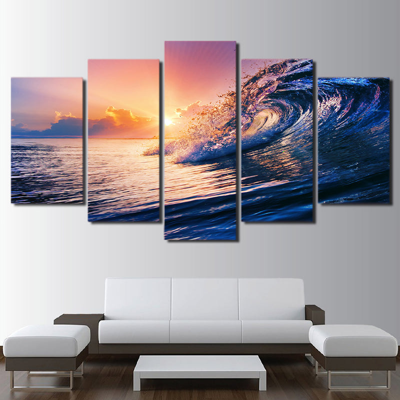 Sunset Swirl - Ocean - Nature Inspired Canvas Wall Art