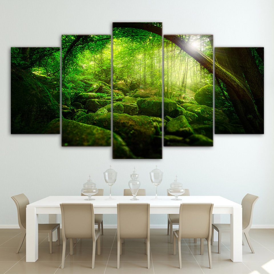 Mossy Glow Forest - Nature Inspired Wall Art