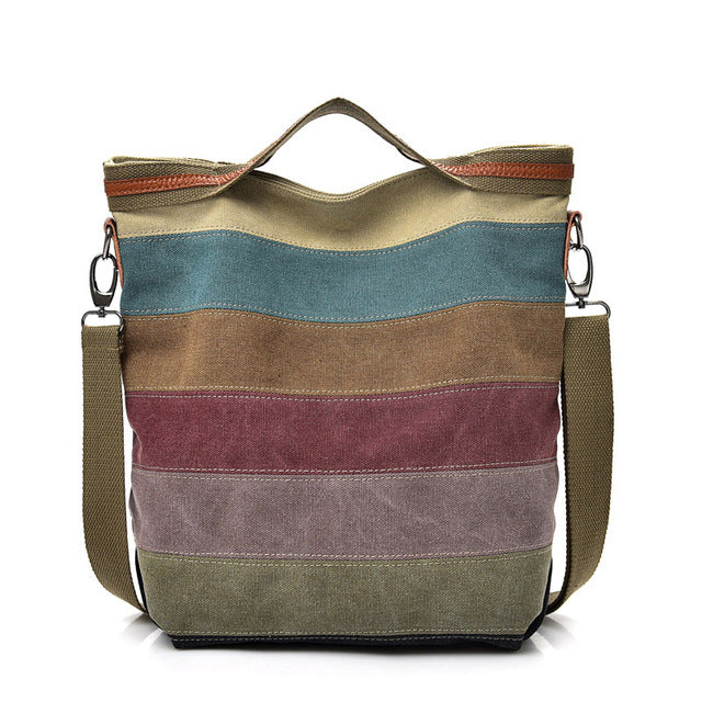 Colorful Messenger Tote - Vegan hand bag