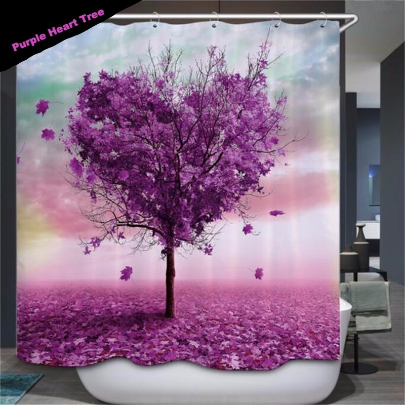 Tree shower curtain - unique vegan gifts - home decor