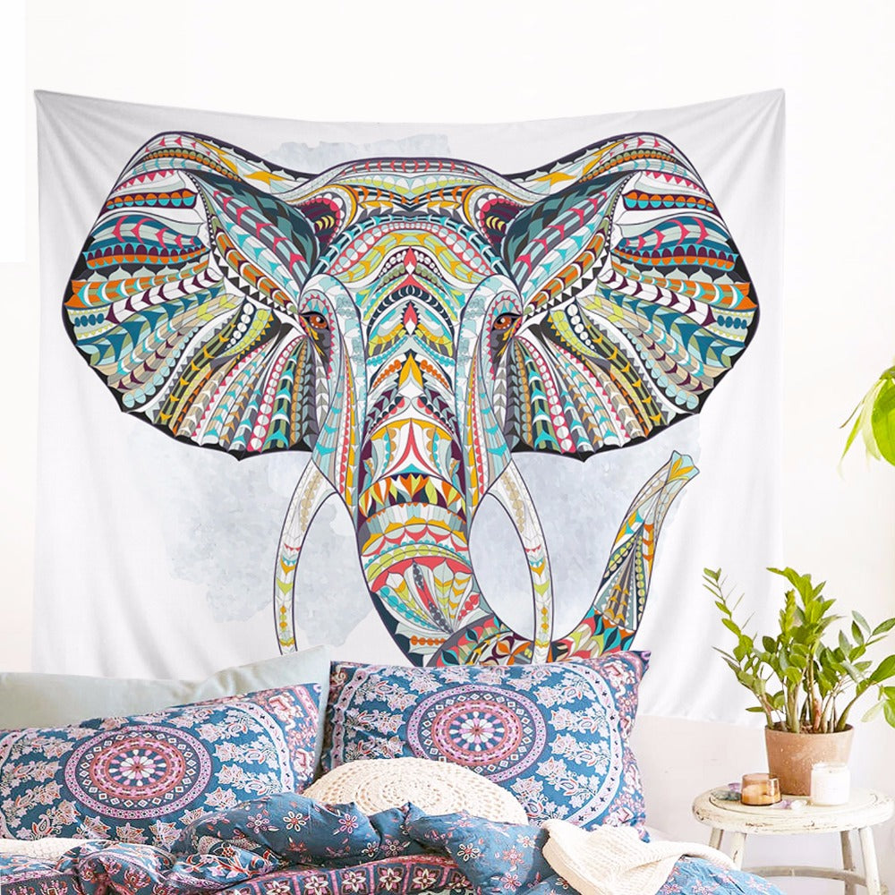 Elephant In Color Tapestry
