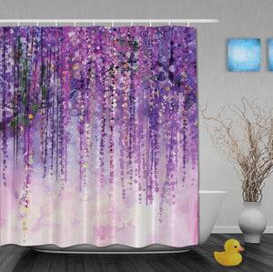 Purple Tree - shower curtain - unique vegan gift ideas