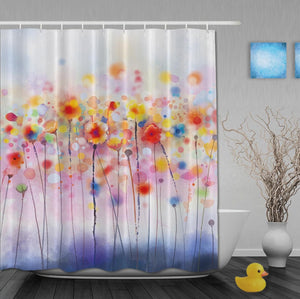 Poppy Shower Curtain - Vegan Home decor