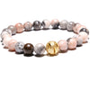 Colored Howlite Gemstone Bracelet - Jewelry - Vegan gift idea