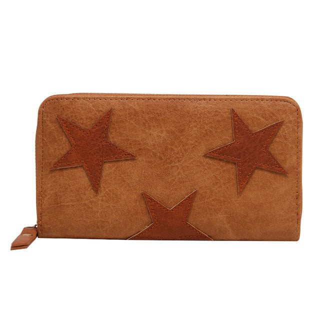 Faux Leather Star Wallet - Vegan - Gift