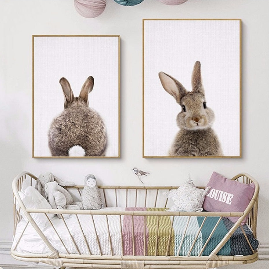 Cotton Tail - Bunny Rabbit - Nursery Wall Art