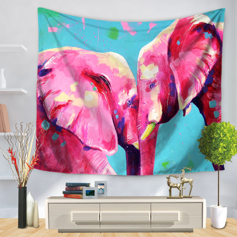 Animal Tapestry - Elephants - Vegan Gift idea