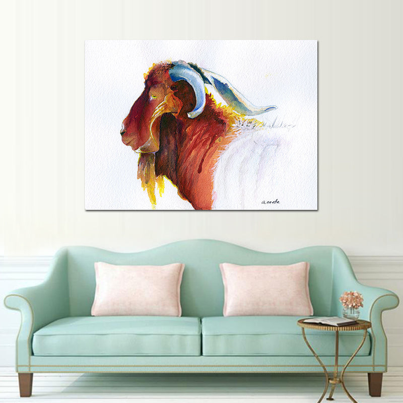 Yak - Vegan Inspired - Animal Canvas - wall art