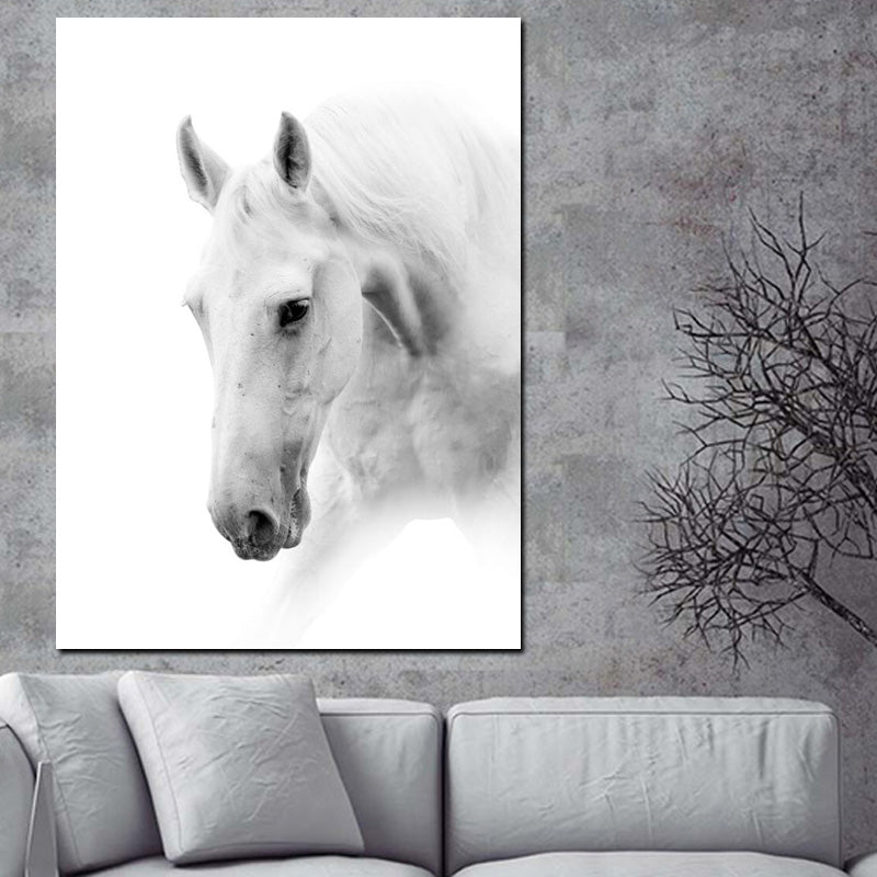 Majestic White Horse - Animal Vegan Inspired Wall Art