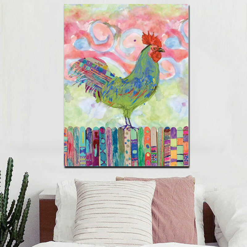 Rainbow Rooster - Vegan Inspired Wall Art