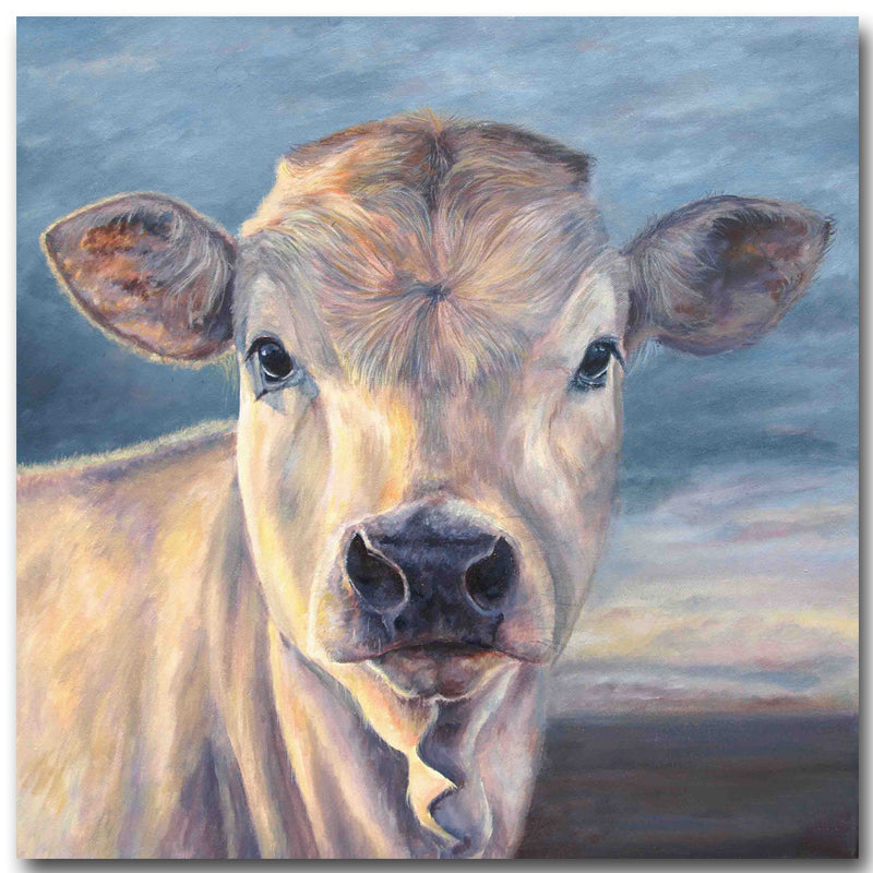 Teeka - Cow Canvas Wall Art - Vegan Gift Idea