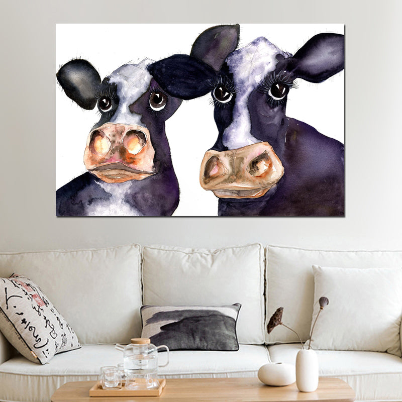Cow Wall Art - Canvas - Vegan Gift Idea