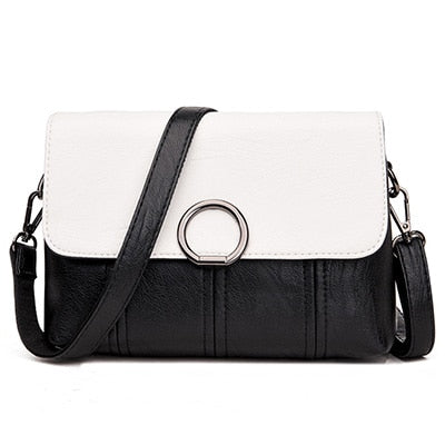 Vegan Messenger Bag - Faux Leather handbag