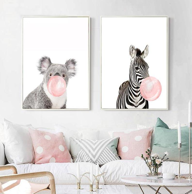 Animal Wall Art for Nursery - Vegan Wall Art