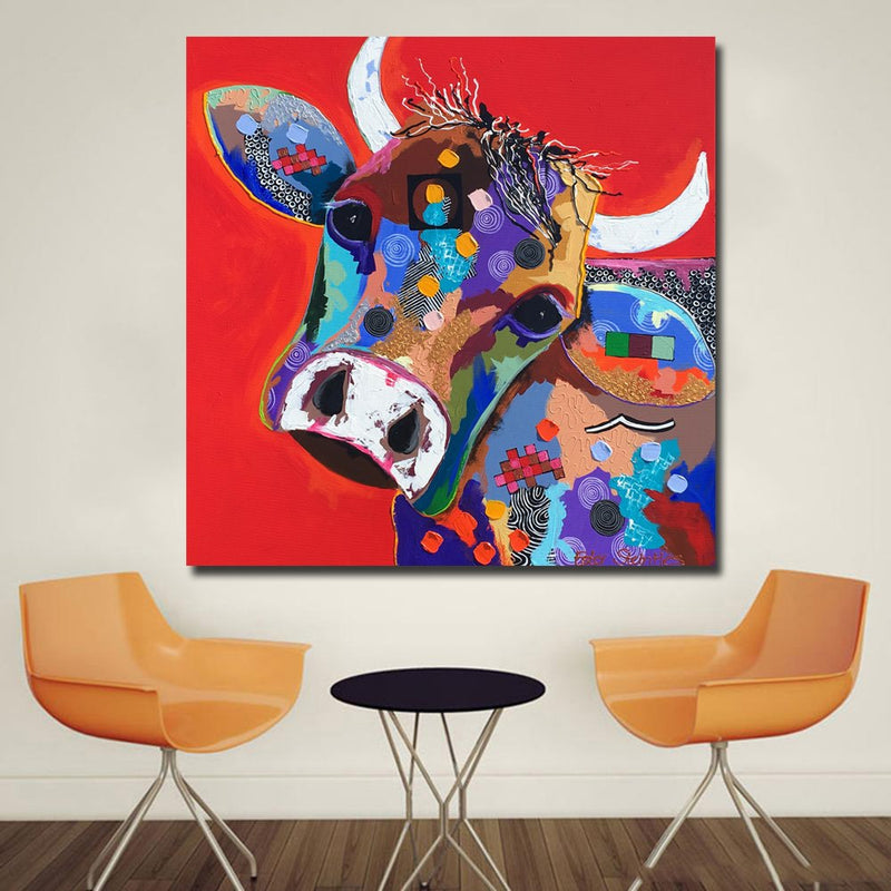 Alejandro Cow Wall Art - Canvas Print - Vegan Gift Idea