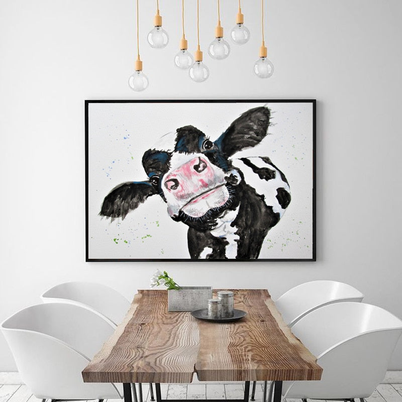 Cow - Vegan Wall Art - Gift Idea