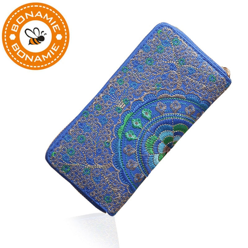 Embroidered Mandala Wallet