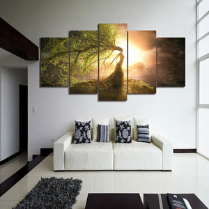Enchanting Tree Wizard Canvas Wall Art Framed - Vegan Gift