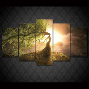 Enchanting Tree Wizard Canvas Wall Art Framed - Rainbowgrove Dreams