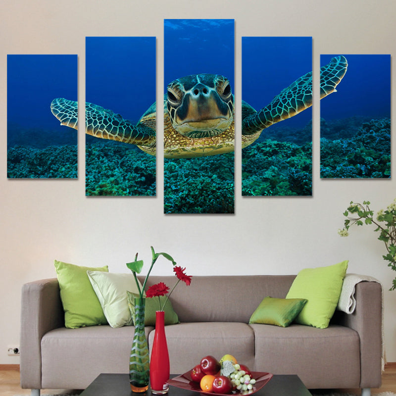 Turtle Canvas Wall Art - Free Shipping - Framed