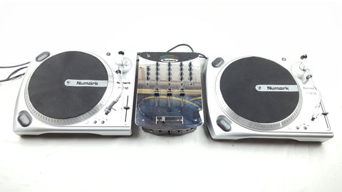 NUMARK - BATTLE PACK DECKS PACKAGE 2X TT 1610 + MIXER DJ DECKS-DJ Decks-DJ Decks