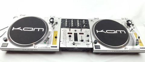 KAM - BATTLE PACK DECKS PACKAGE 2X DDX 750 + MIXER DJ DECKS - uk-turn-table-lab
