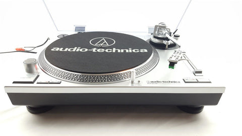 Audio-Technica AT-LP120 USB Professional DJ USB Record Player Turntable Silver - uk-turn-table-lab
