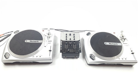 NUMARK - BATTLE PACK DECKS PACKAGE 2X TT 1650 + MIXER DJ DECKS - uk-turn-table-lab