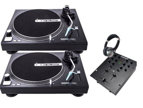 2x Reloop RP-1000 Turntable Vinyl Decks + Numark M101 Mixer + Free Headphones - uk-turn-table-lab