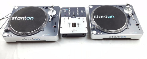 STANTON - Battle Pack Decks Package 2X 60 + MIXER + HEADPHONES - uk-turn-table-lab
