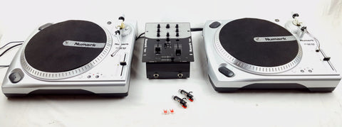 Numark - Battle Pack Decks Package 2X TT 1610 + MIXER + HEADPHONES - uk-turn-table-lab